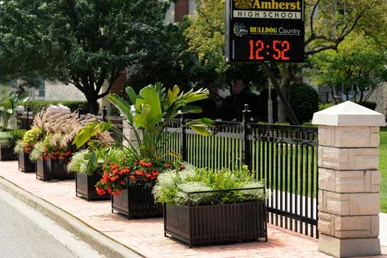 St Charles Mercedes >> General Amherst High School | Ron Koudys Landscape Architects Inc.